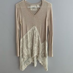 Anthropology lace sweater